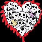 Heart Skulls by GroglioArt