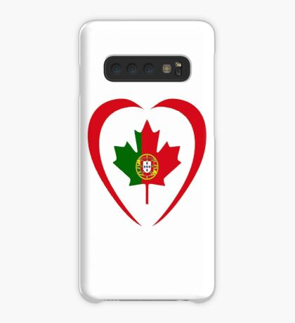 Portuguese Canadian Multinational Patriot Flag Series (Heart) Case/Skin for Samsung Galaxy