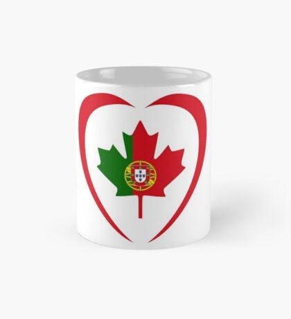 Portuguese Canadian Multinational Patriot Flag Series (Heart) Mug
