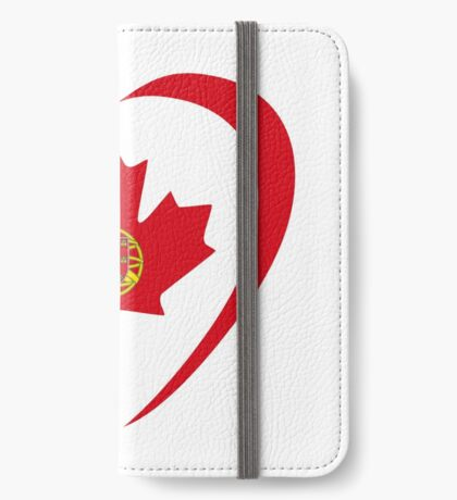 Portuguese Canadian Multinational Patriot Flag Series (Heart) iPhone Wallet