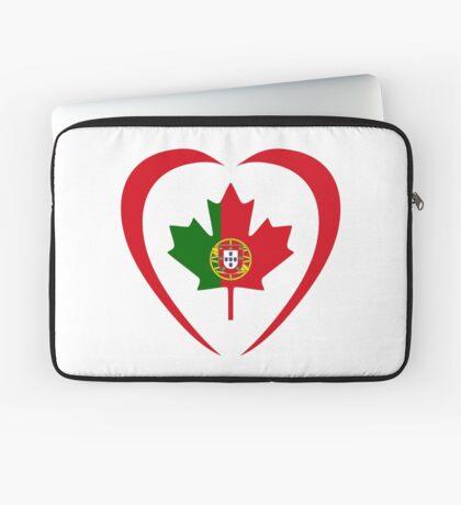 Portuguese Canadian Multinational Patriot Flag Series (Heart) Laptop Sleeve