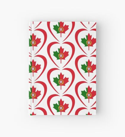Portuguese Canadian Multinational Patriot Flag Series (Heart) Hardcover Journal