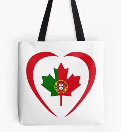 Portuguese Canadian Multinational Patriot Flag Series (Heart) Tote Bag