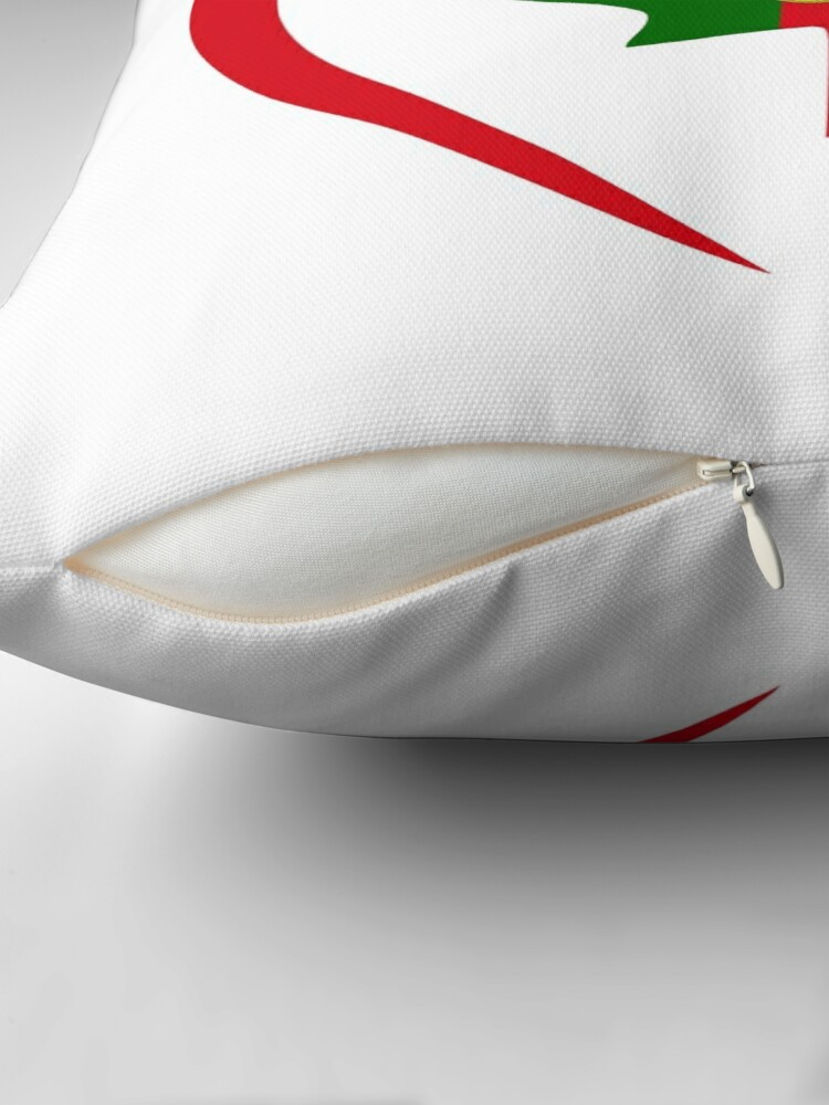 Alternate view of Portuguese Canadian Multinational Patriot Flag Series (Heart) Throw Pillow