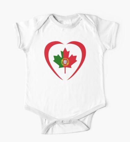 Portuguese Canadian Multinational Patriot Flag Series (Heart) Kids Clothes