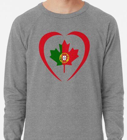 Portuguese Canadian Multinational Patriot Flag Series (Heart) Lightweight Sweatshirt