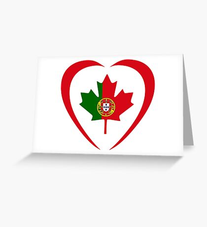 Portuguese Canadian Multinational Patriot Flag Series (Heart) Greeting Card