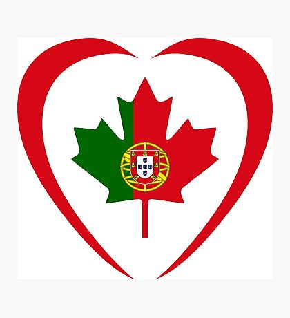 Portuguese Canadian Multinational Patriot Flag Series (Heart) Photographic Print