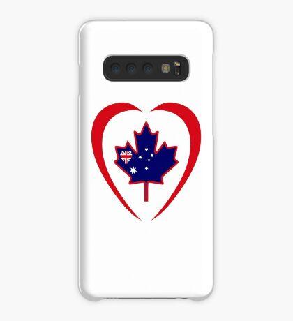 Australian Canadian Multinational Patriot Flag Series (Heart) Case/Skin for Samsung Galaxy