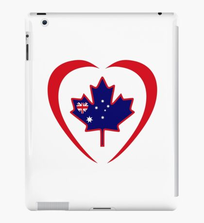 Australian Canadian Multinational Patriot Flag Series (Heart) iPad Case/Skin