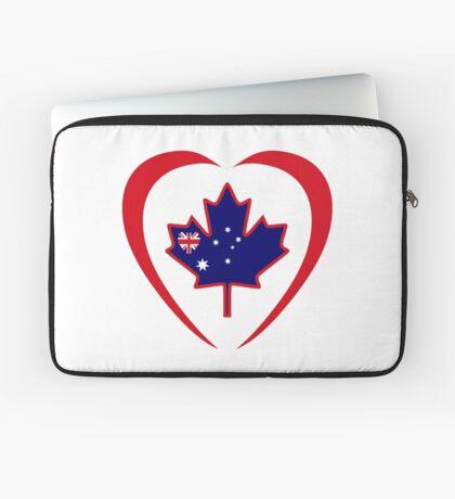 Australian Canadian Multinational Patriot Flag Series (Heart) Laptop Sleeve