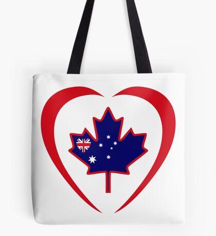 Australian Canadian Multinational Patriot Flag Series (Heart) Tote Bag