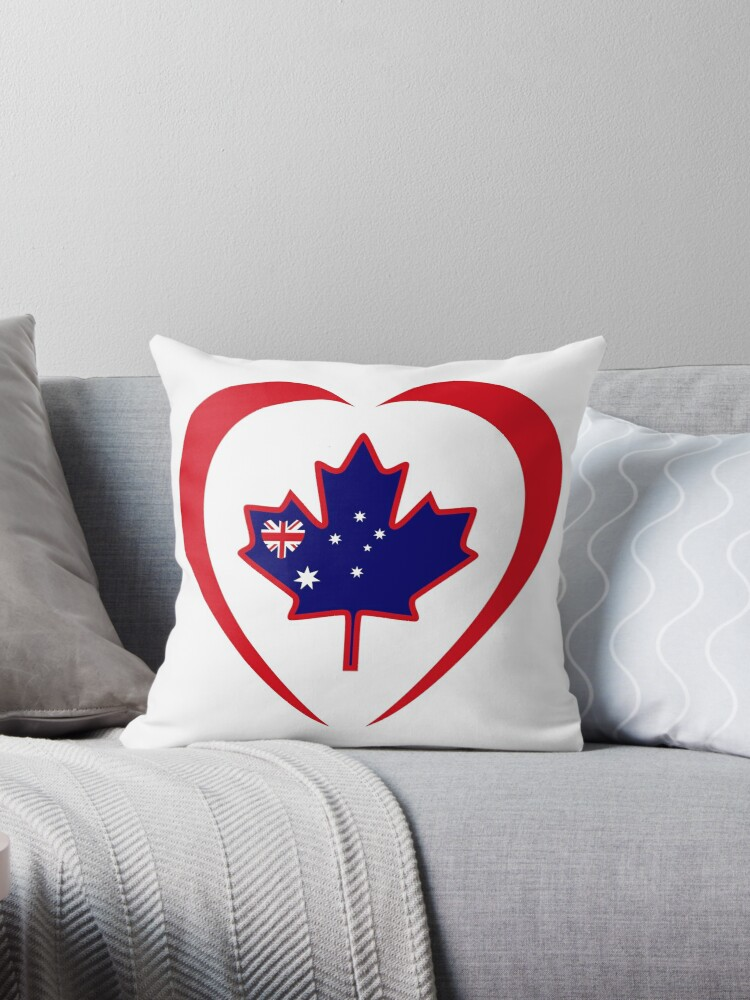 Australian Canadian Multinational Patriot Flag Series (Heart) by Carbon-Fibre Media