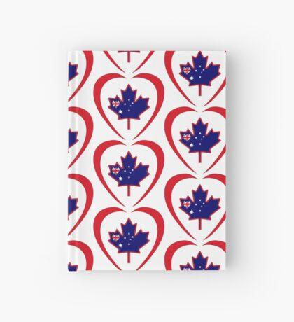 Australian Canadian Multinational Patriot Flag Series (Heart) Hardcover Journal