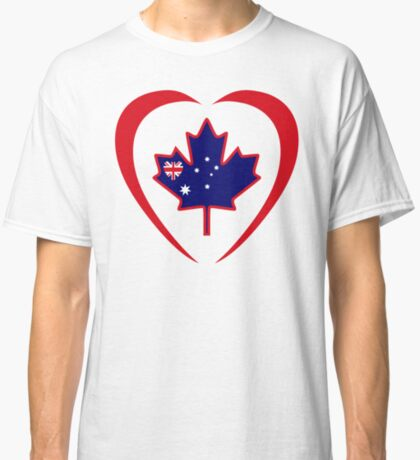 Australian Canadian Multinational Patriot Flag Series (Heart) Classic T-Shirt