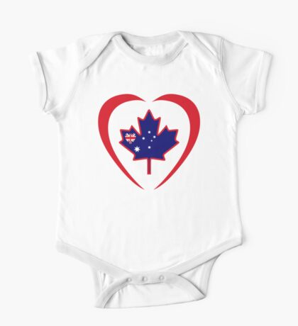 Australian Canadian Multinational Patriot Flag Series (Heart) Kids Clothes