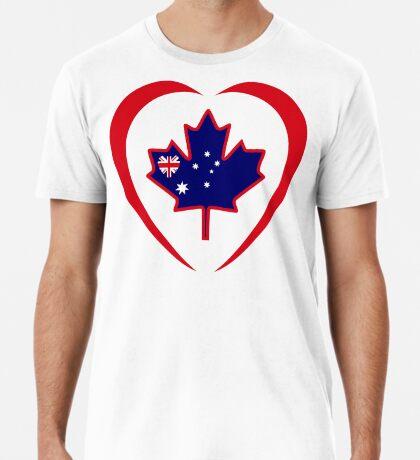 Australian Canadian Multinational Patriot Flag Series (Heart) Premium T-Shirt