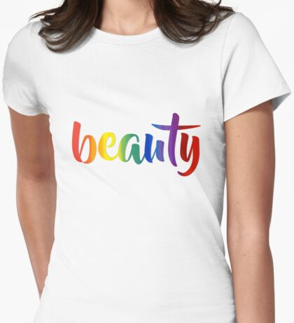 Rainbow Beauty - Typography T-Shirt
