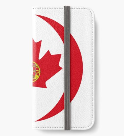 Portuguese Canadian Multinational Patriot Flag Series iPhone Wallet