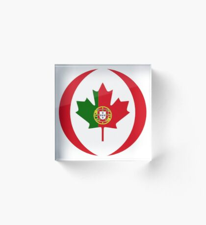 Portuguese Canadian Multinational Patriot Flag Series Acrylic Block