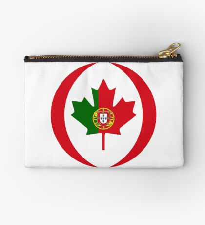 Portuguese Canadian Multinational Patriot Flag Series Zipper Pouch