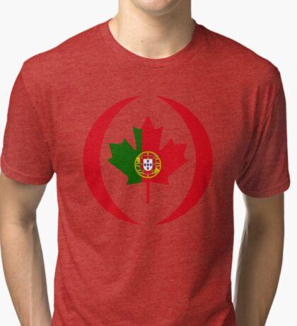 Portuguese Canadian Multinational Patriot Flag Series Tri-blend T-Shirt
