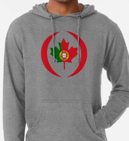 Portuguese Canadian Multinational Patriot Flag Series Lightweight Hoodie