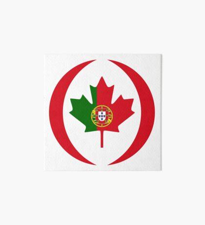 Portuguese Canadian Multinational Patriot Flag Series Art Board Print