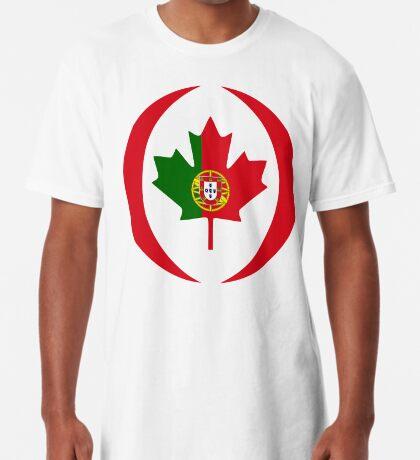 Portuguese Canadian Multinational Patriot Flag Series Long T-Shirt
