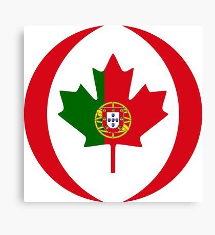 Portuguese Canadian Multinational Patriot Flag Series Canvas Print