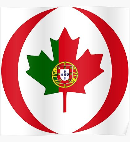 Portuguese Canadian Multinational Patriot Flag Series Poster