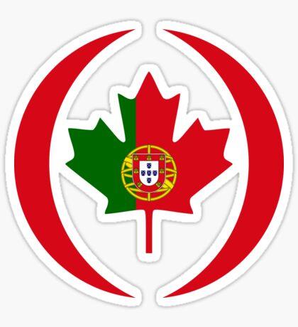 Portuguese Canadian Multinational Patriot Flag Series Sticker