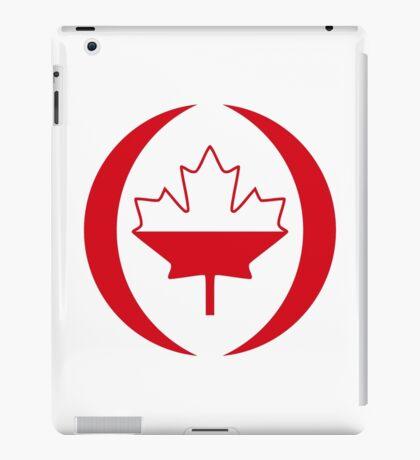 Polish Canadian Multinational Patriot Flag Series iPad Case/Skin