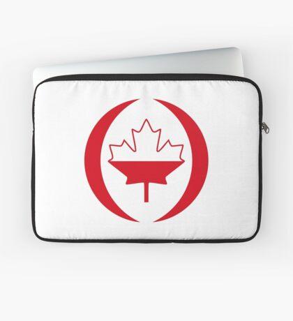 Polish Canadian Multinational Patriot Flag Series Laptop Sleeve