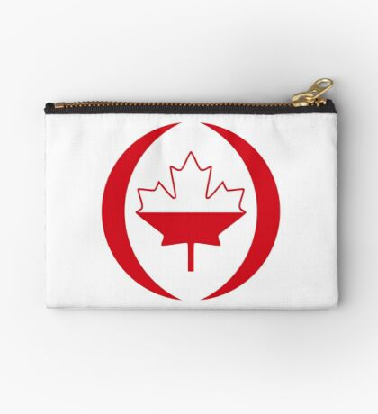 Polish Canadian Multinational Patriot Flag Series Zipper Pouch