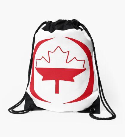 Polish Canadian Multinational Patriot Flag Series Drawstring Bag