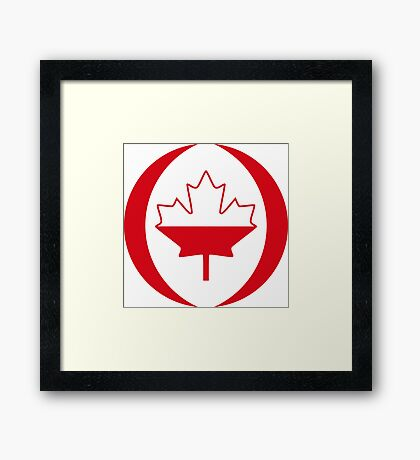 Polish Canadian Multinational Patriot Flag Series Framed Print