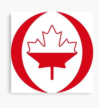 Polish Canadian Multinational Patriot Flag Series Canvas Print