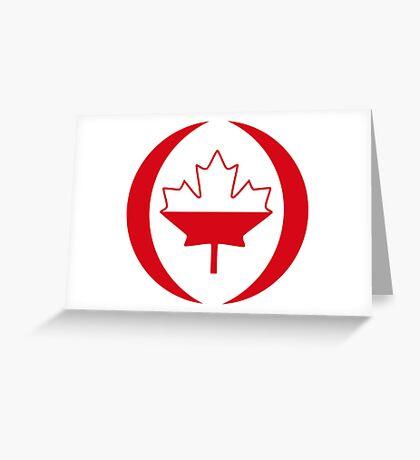 Polish Canadian Multinational Patriot Flag Series Greeting Card