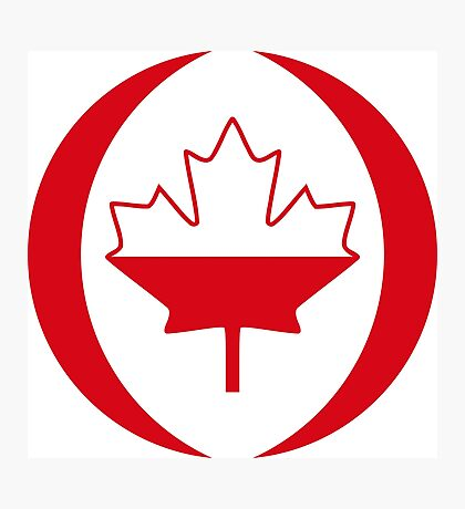Polish Canadian Multinational Patriot Flag Series Photographic Print