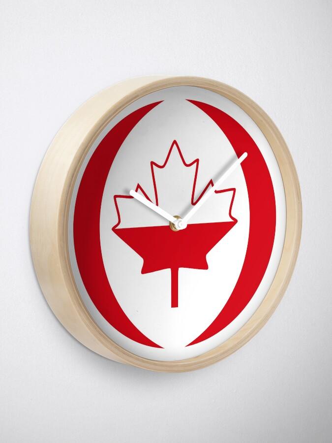 Alternate view of Polish Canadian Multinational Patriot Flag Series Clock