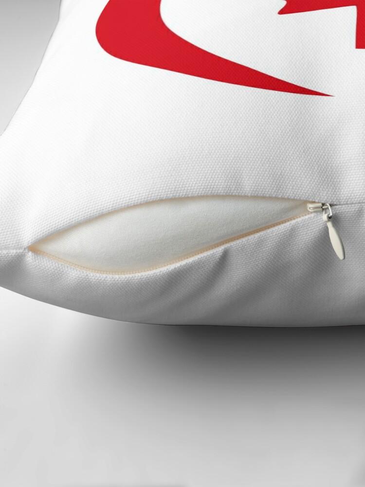 Alternate view of Polish Canadian Multinational Patriot Flag Series Throw Pillow