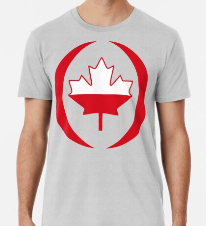 Polish Canadian Multinational Patriot Flag Series Premium T-Shirt