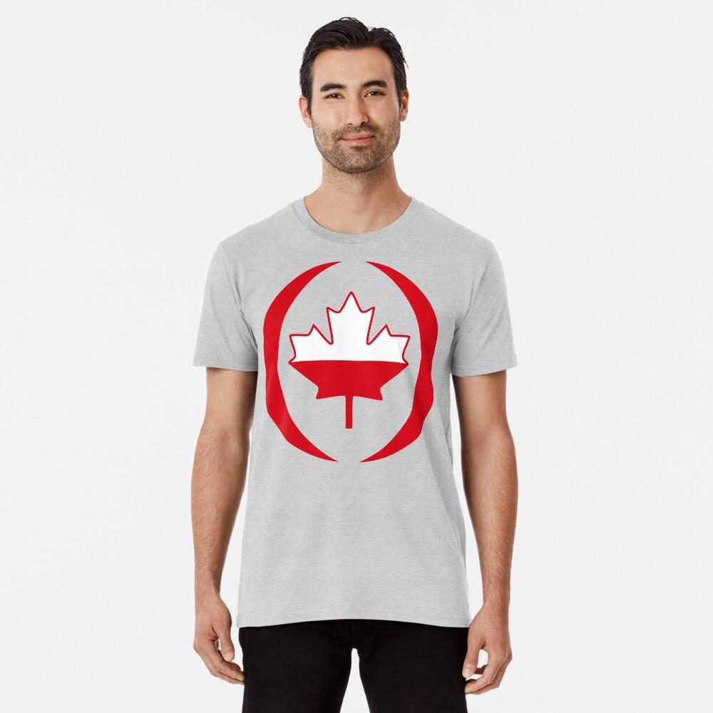 Polish Canadian Multinational Patriot Flag Series Premium T-Shirt