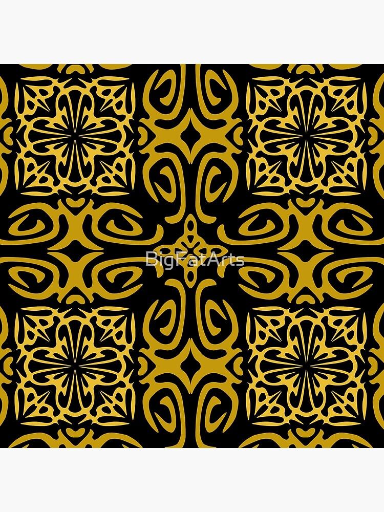 Retro Symmetry Gold by BigFatArts