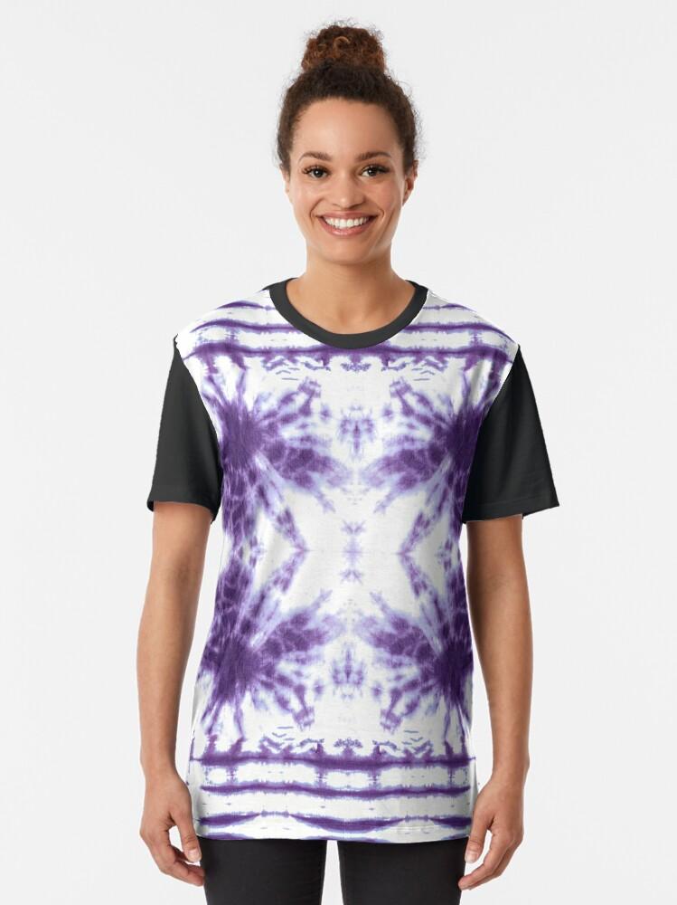 Alternate view of Shibori Beach Violet Graphic T-Shirt