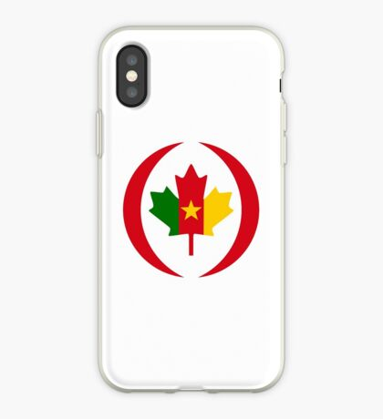 Cameroon Canadian Multinational Patriot Flag Series iPhone Case
