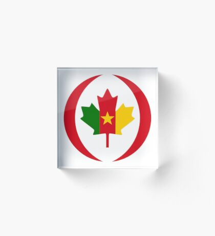 Cameroon Canadian Multinational Patriot Flag Series Acrylic Block