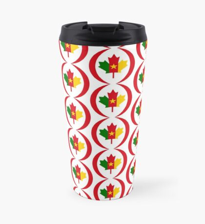 Cameroon Canadian Multinational Patriot Flag Series Travel Mug