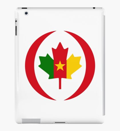 Cameroon Canadian Multinational Patriot Flag Series iPad Case/Skin